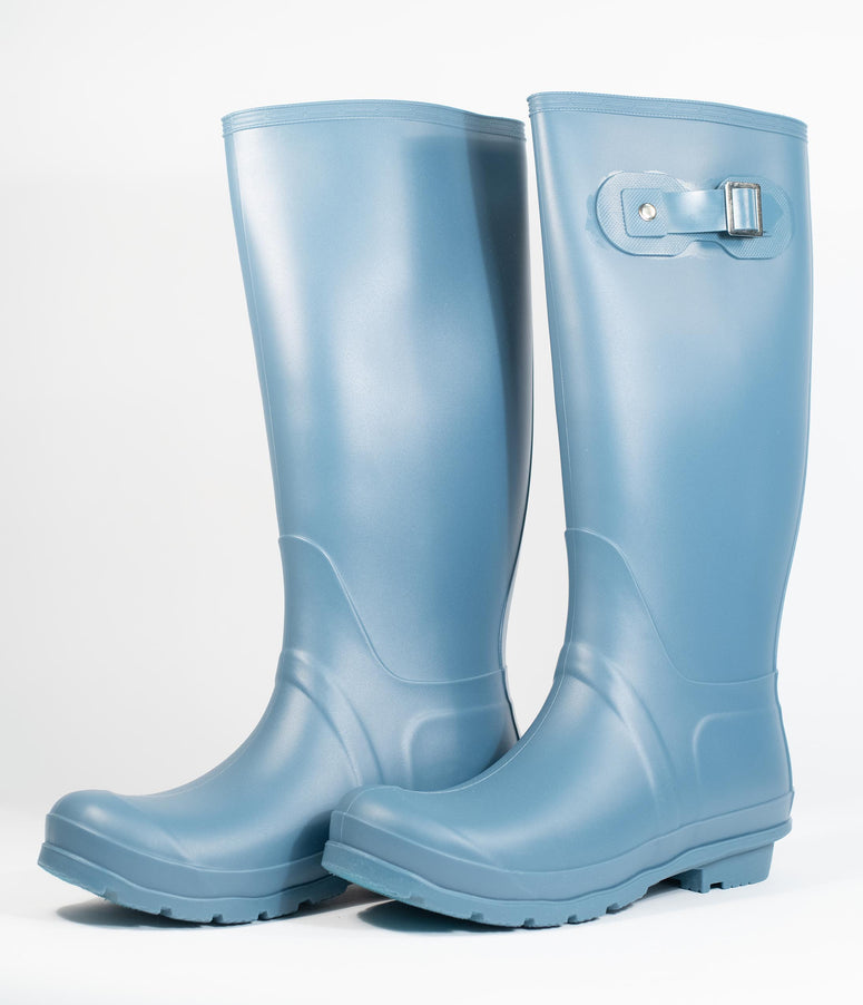 Gull Grey Rubber Rain Boots