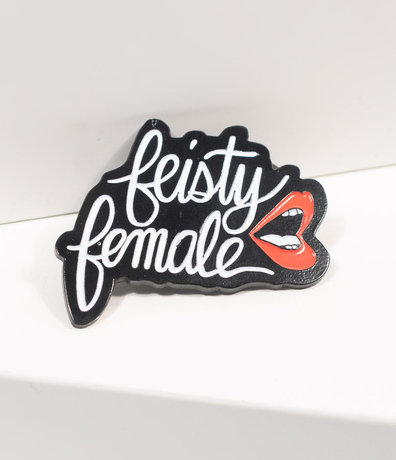 Feisty Female Enamel Pin