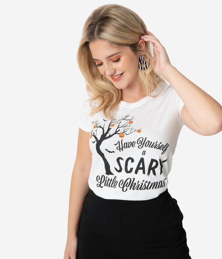 Unique Vintage Have Yourself A Scary Little Christmas Womens Tee