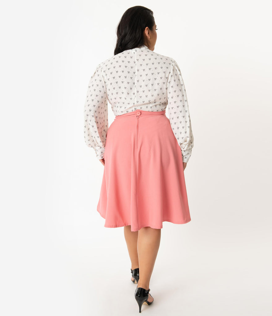 Steady Plus Size Blush Pink High Waist Thrills Swing Skirt