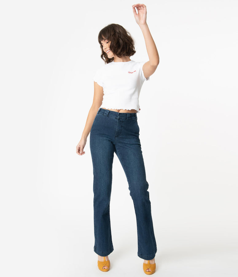 Dickies Dark Denim Blue Bootcut Jeans