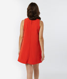 1960s Style Burnt Orange Shift Dress