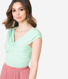 Voodoo Vixen Mint Knotted Milla Top