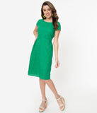 Green Broderie Anglaise Jill Summer Dress