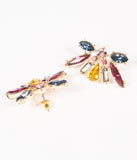 Multicolor Rhinestone Deco Post Earrings