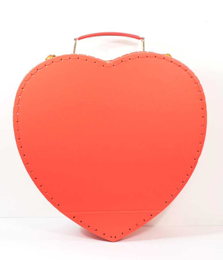 Red Valentine Heart Paper Suitcase