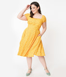 Plus Size Marigold & Pink Dainty Floral Aaliyah Swing Dress