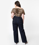Hell Bunny Plus Size Dark Denim Blue Weston Jeans