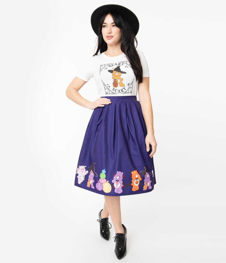 Care Bears x Unique Vintage Halloween Fun Jayne Swing Skirt