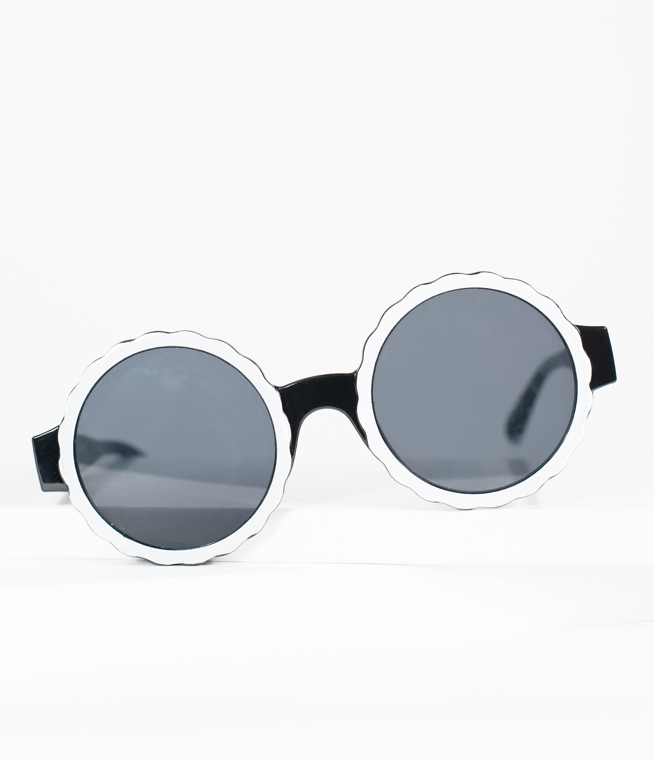 1960s Sunglasses | 70s Sunglasses, 70s Glasses 1960S Black  White Omelette Mod Sunglasses $24.00 AT vintagedancer.com