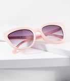 Vintage Style Matte Pink Sweet Stuff Cat Eye Sunglasses