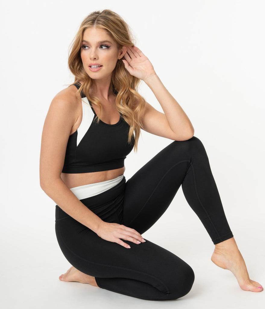 Black & Stripe Racerback Sports Bra