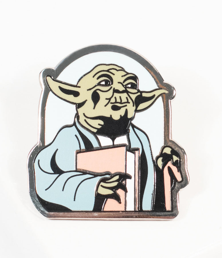 Yoda Read Star Wars Enamel Pin