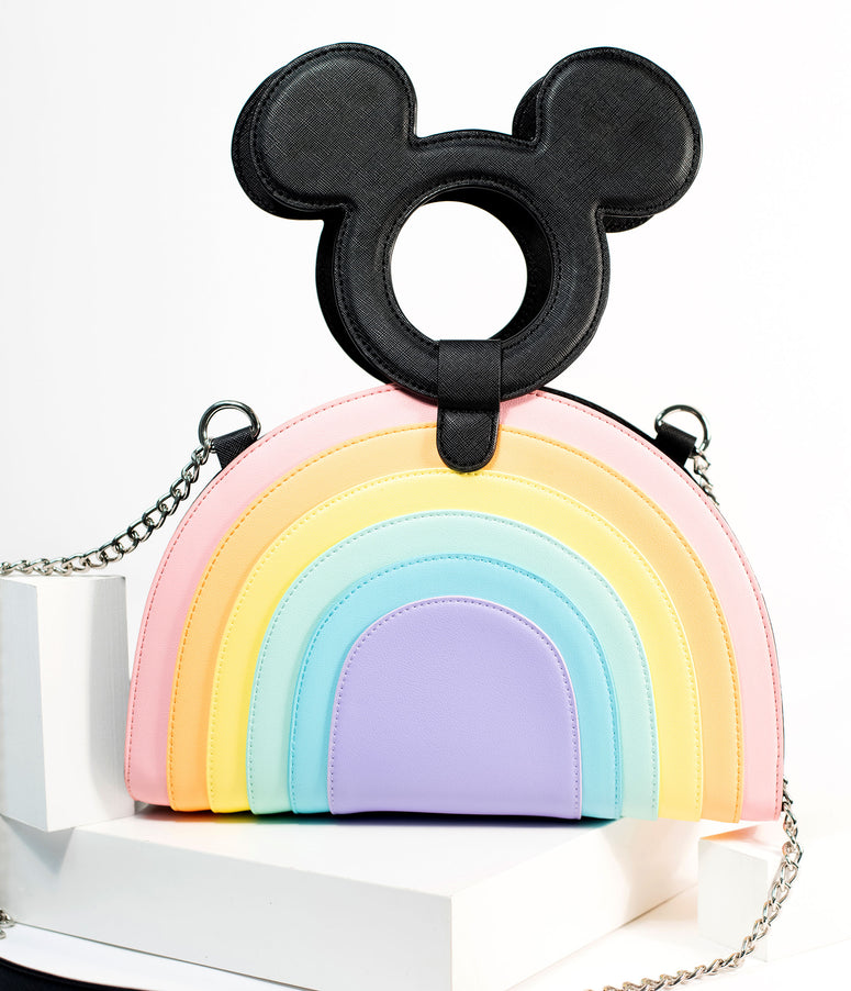 Loungefly Mickey Mouse & Pastel Rainbow Crossbody