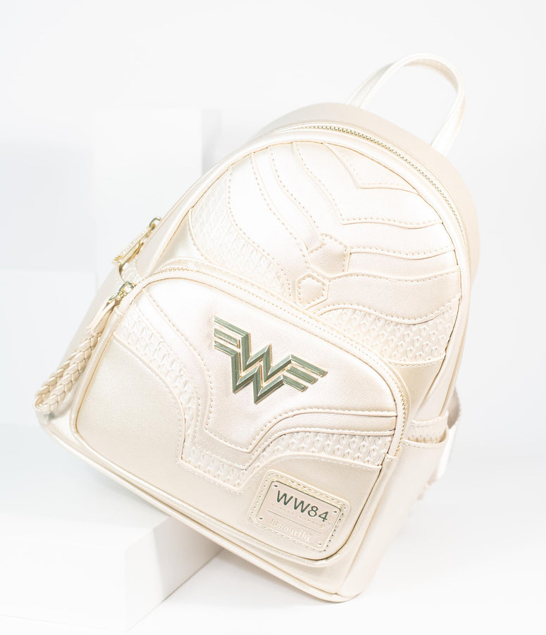 Loungefly Metallic Leatherette Wonder Woman Mini Backpack