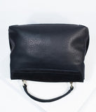 Black Suede Annie Crossbody Purse
