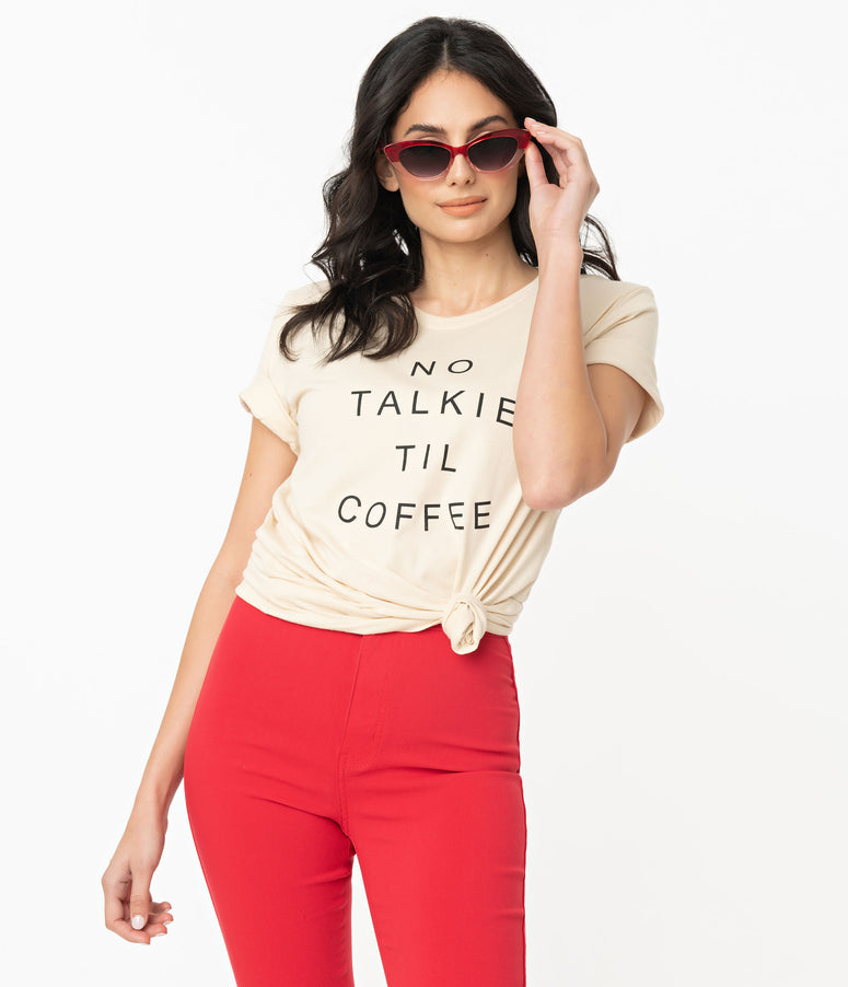 No Talkie Til Coffee Unisex Top