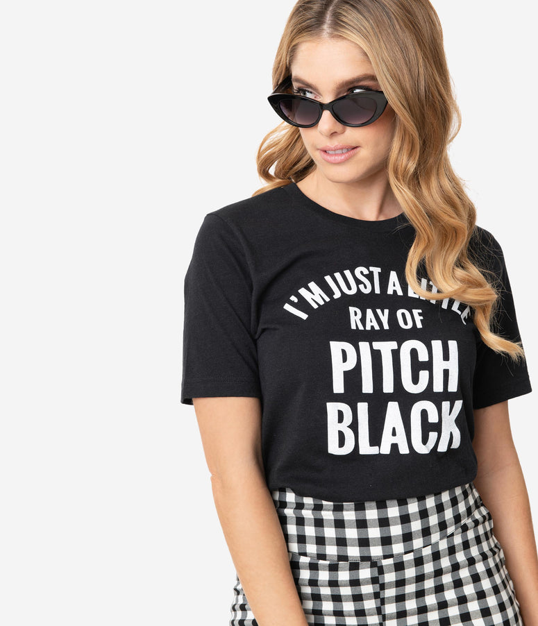 Unique Vintage Little Ray Of Pitch Black Unisex Tee