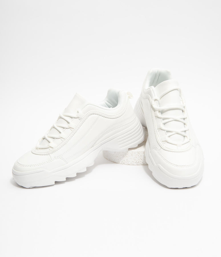 White Athletic Sneakers