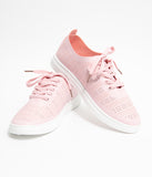 Light Pink Perforated Sneakers