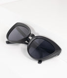 Vintage Style Matte Black Sweet Stuff Cat Eye Sunglasses