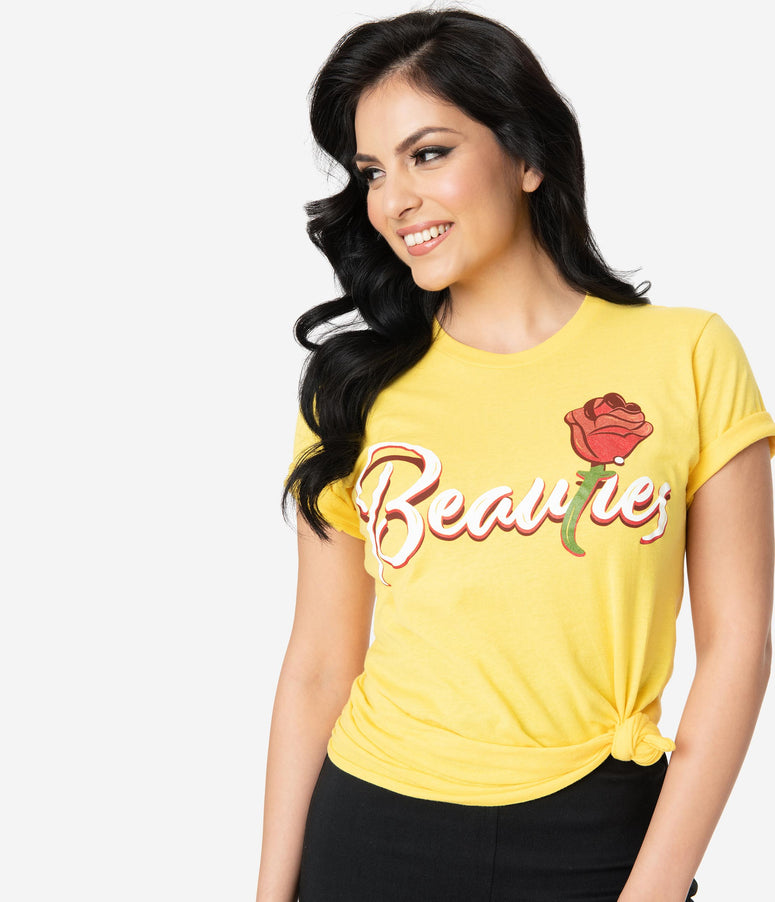 The Lost Bros Yellow Belle Beauties Unisex Jersey Tee