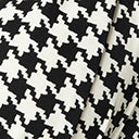 Unique Vintage Plus Size 1950s Black & White Houndstooth Bassey Blouse