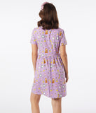 Cakeworthy Be Our Guest Print Fit & Flare Dress