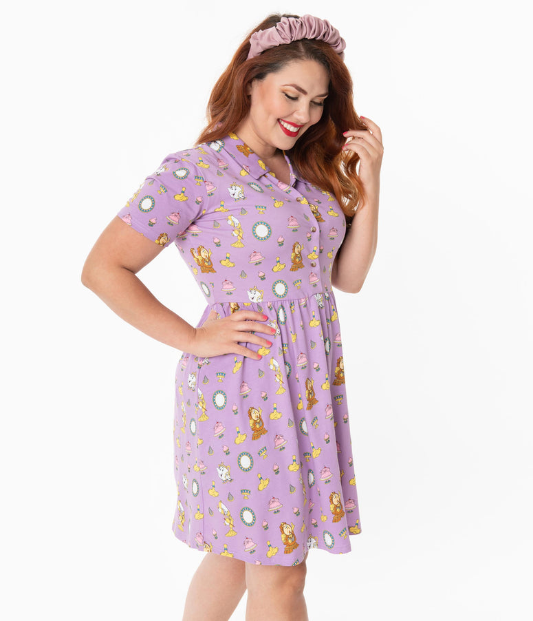 Cakeworthy Plus Size Be Our Guest Print Fit & Flare Dress