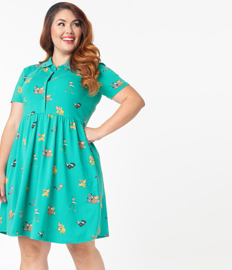 Cakeworthy Plus Size Lost Boys Fit & Flare Dress
