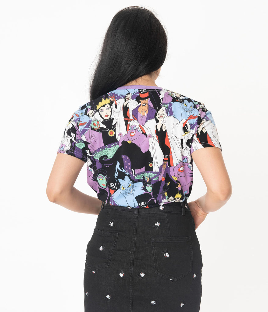 Cakeworthy Disney Villains All Over Print Unisex Graphic Tee