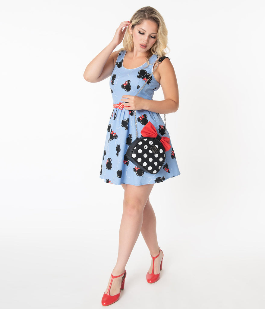 Stitch Shoppe By Loungefly Mickey Minnie Balloons Olivia Fit & Flare Dress