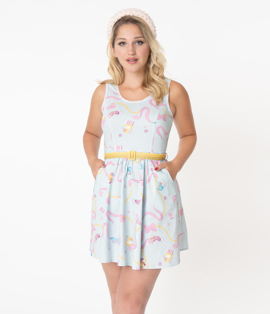 Stitch Shoppe By Loungefly Cinderella Friends Olivia Fit & Flare Dress