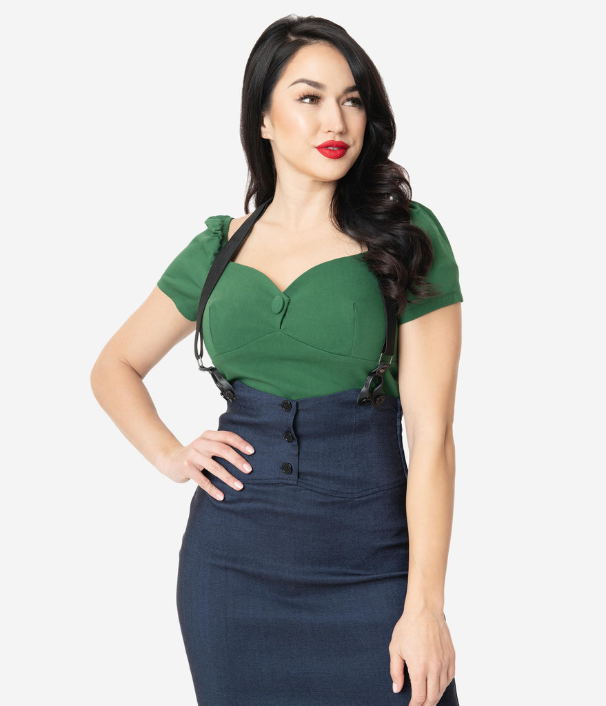 Unique Vintage Emerald Sweetheart Nora Top