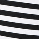 Unique Vintage Black & White Stripe Frenchie Top