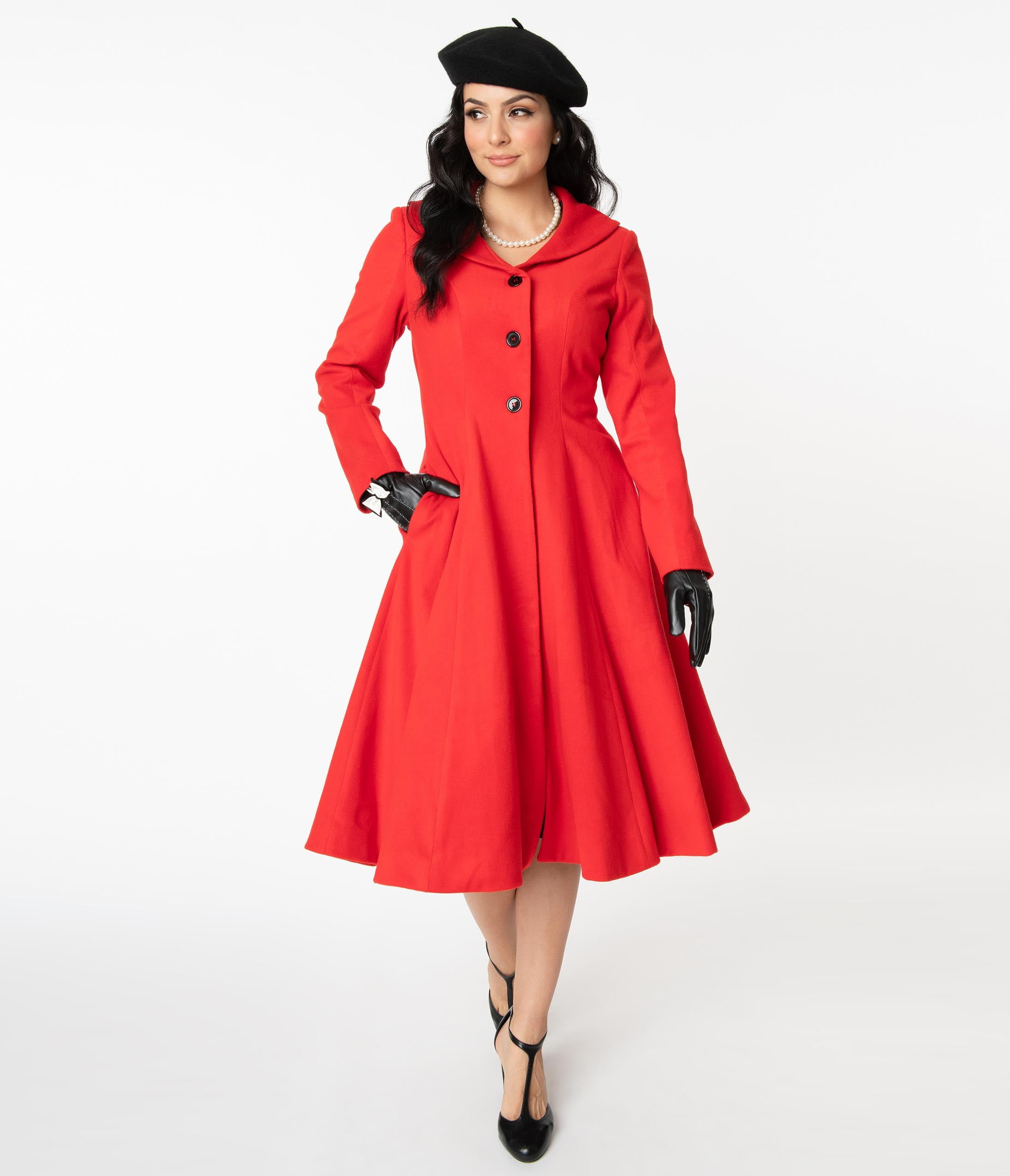 1950s Jackets, Coats, Bolero | Swing, Pin Up, Rockabilly Unique Vintage 1950S Style Red Dorian Swing Coat $148.00 AT vintagedancer.com