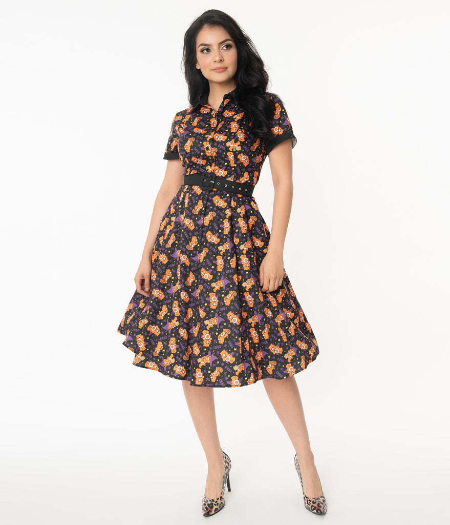 Care Bears x Unique Vintage Caring Is Creepy Swing Dress