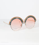Golden Rainbow Rounded Sunglasses