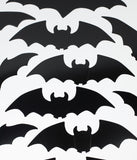 Black Bat Silhouette Paper Cutouts Set