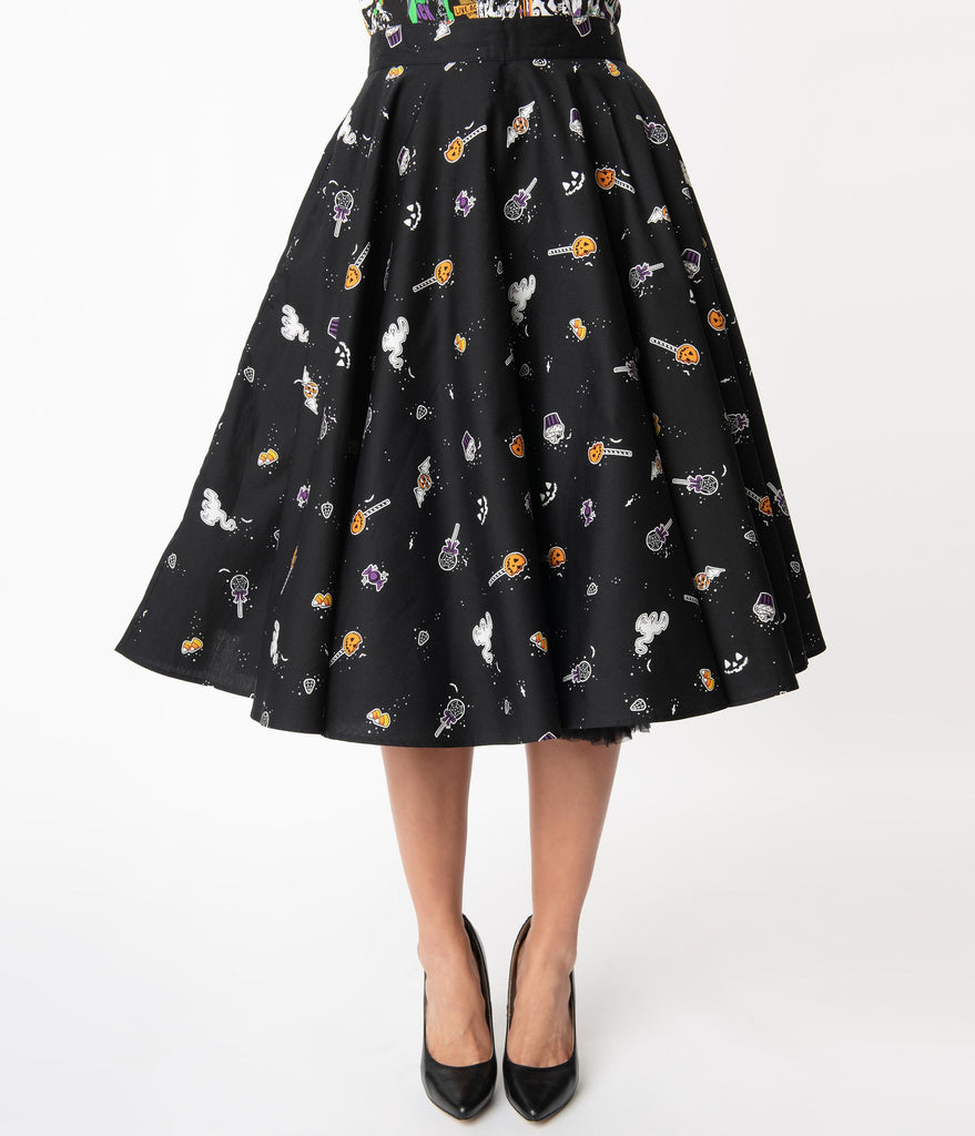 Hell Bunny 1950s Trick Or Treat Swing Skirt