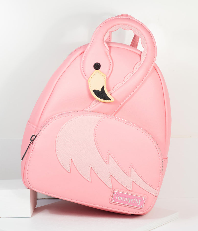 Loungefly Pink Pool Party Flamingo Mini Backpack