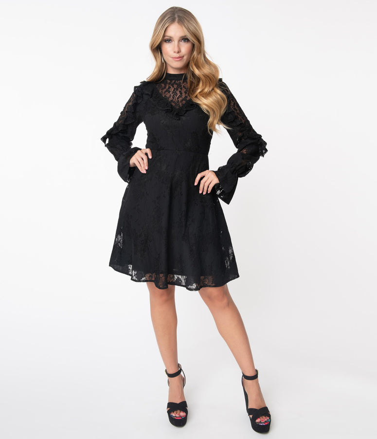 Black Lace Dark Dreams Fit & Flare Dress