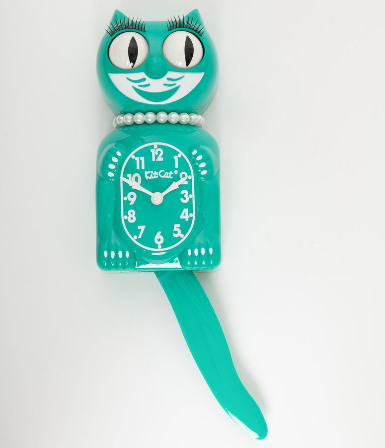 Green Limited Edition Lady Kit-Cat Klock