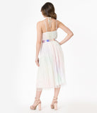 Pastel Rainbow Ombre Sequin Midi Dress