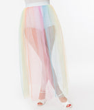 Pastel Rainbow Written In The Stars Tulle Long Skirt