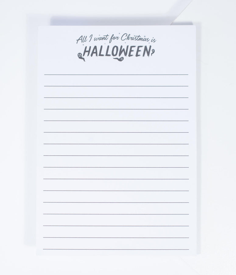 Unique Vintage All I Want For Christmas Is Halloween Notepad