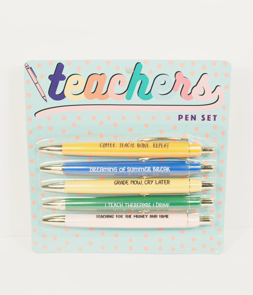 Teacher Appreciation Ballpoint Pen Set