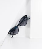 Retro Chic Black Cat Eye Sunglasses