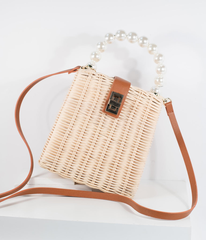 Wicker & Pearl Handbag