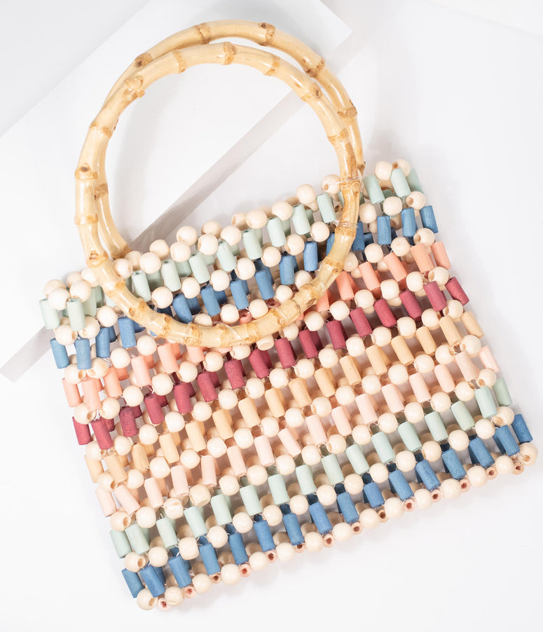 Multicolor Beaded Handbag